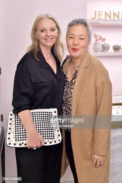 Alison Edmond and Jean Yang attend Jennifer Meyer Celebrates First Store Opening in Palisades Village At The Draycott With Gwyneth Paltrow And Rick...