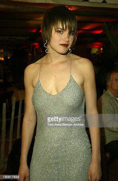 Alison Folland during 2003 Cannes Film Festival 'Milwaukee Minnesota' Party at The Man Ray Beach at Man Ray Beach in Cannes France