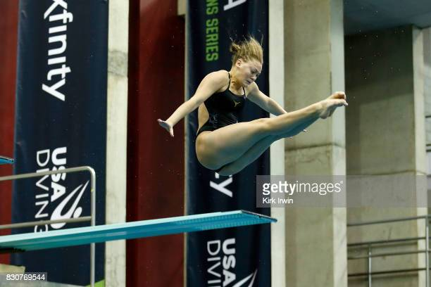 Alison Gibson of Longhorn Aquatics competes during the Senior Women's 3m Springboard Final during the 2017 USA Diving Summer National Championships...