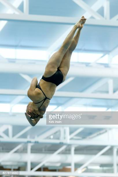 Alison Gibson of Longhorn Aquatics completes a dive while on her way to winning the Senior Women's 1m Springboard Final during the 2017 USA Diving...