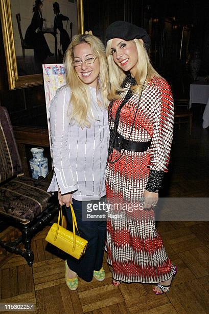Alison Goldenstein and Tracy Stern during The National Arts Club and Tracy Stern host a Salon Tea Party for Artist Damon Johnson at The National Arts...