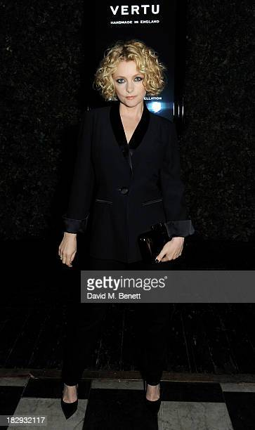 Alison Goldfrapp attends the Vertu launch of the new Constellation smartphone at One Mayfair on October 2 2013 in London England