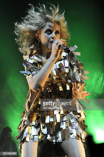 Alison Goldfrapp of Goldfrapp performs in support the bands' Head First release at The Fox Theatre on June 26 2010 in Oakland California