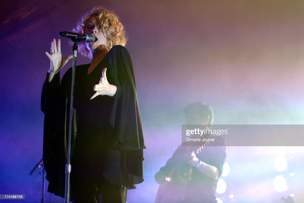 Alison Goldfrapp of Goldfrapp performs live on The Terrazza Stage during day three of the Lovebox festival at Victoria Park on July 21, 2013 in London, England.