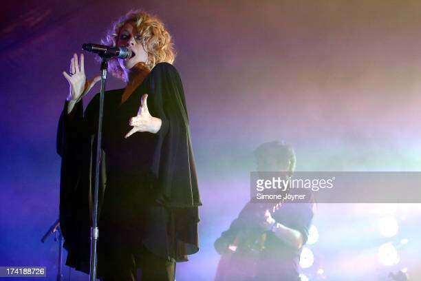Alison Goldfrapp of Goldfrapp performs live on The Terrazza Stage during day three of the Lovebox festival at Victoria Park on July 21 2013 in London...