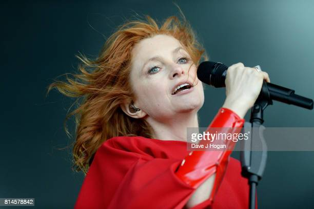 Alison Goldfrapp of Goldfrapp performs on Day 2 of Latitude Festival at Henham Park Estate on July 14 2017 in Southwold England