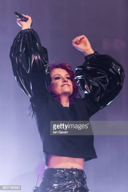 Alison Goldfrapp of Goldfrapp performs on day 4 of the Glastonbury Festival 2017 at Worthy Farm Pilton on June 25 2017 in Glastonbury England