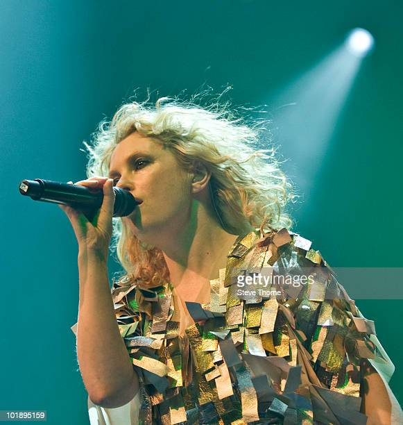 Alison Goldfrapp of Goldfrapp performs on stage at the Assembly on June 8 2010 in Leamington Spa England