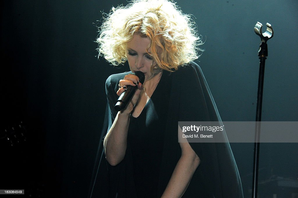 Alison Goldfrapp performs at the Vertu launch of the new Constellation smartphone at One Mayfair on October 2, 2013 in London, England.