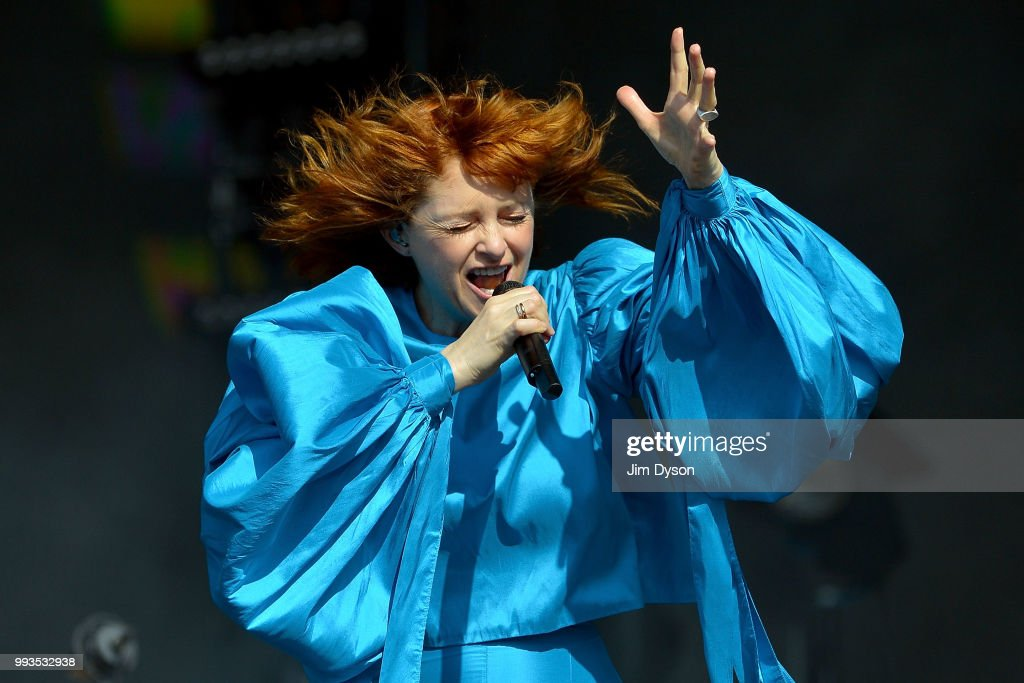 Alison Goldfrapp performs live on stage during British Summer Time at Hyde Park on July 7, 2018 in London, England.