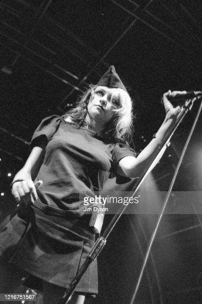 Alison Goldfrapp performs live on stage during the inaugural Summer Series of concerts at Somerset House on July 13 2003 in London England
