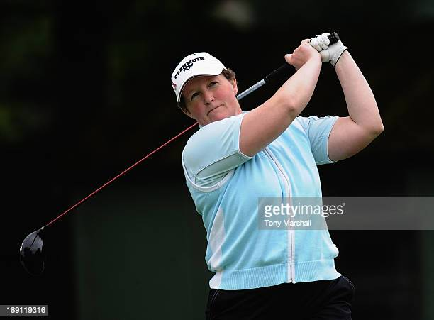 Alison Gray of Ormskirk Golf Club during the Glenmuir Women's PGA Professional Championship Regional Qualifier at Little Aston Golf Club on May 20...
