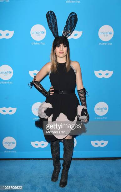 Alison Haislip arrives to the Sixth Annual UNICEF Masquerade Ball held at Clifton's Republic on October 25 2018 in Los Angeles California