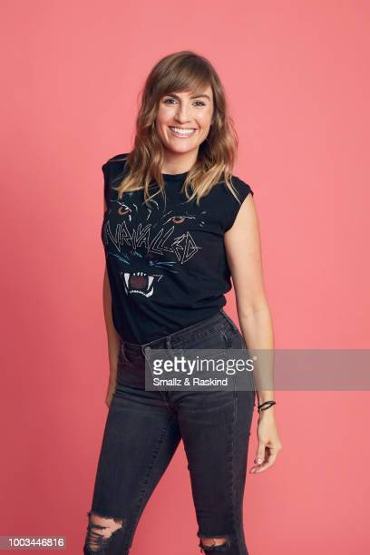Alison Haislip from the 'Half Hour Happy Hour' podcast poses for a portrait at the Getty Images Portrait Studio powered by Pizza Hut at San Diego...