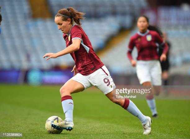 Alison Hall of Aston Villa Ladies during the FA WSL2 match between Aston Villa Ladies and Leicester City Women at Villa Park on January 27 2019 in...