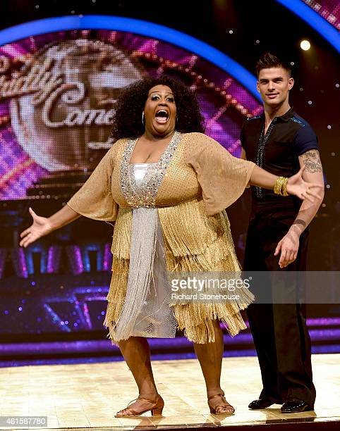 Alison Hammond Aljaz Skorjanec attend a photocall to launch the Strictly Come Dancing Live Tour 2015 at Birmingham Barclaycard Arena on January 15...
