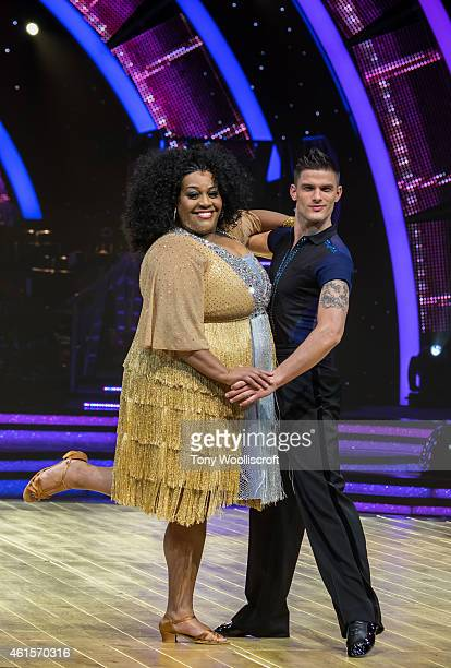 Alison Hammond and Aljaz Skorjanec attends a photocall to launch the Strictly Come Dancing Live Tour 2015 at Birmingham Barclaycard Arena on January...