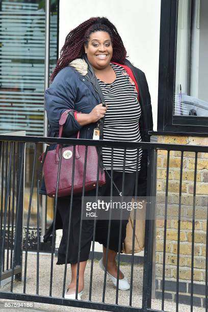 Alison Hammond seen at the ITV Studios on October 4 2017 in London England