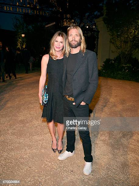 Alison Hawkins and musician Taylor Hawkins of Foo Fighters attend the Burberry 'London in Los Angeles' event at Griffith Observatory on April 16 2015...