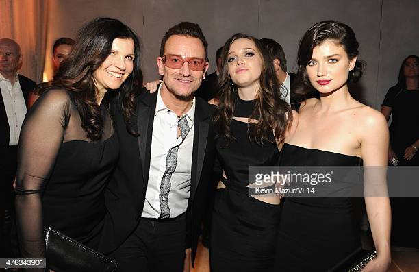Alison Hewson Bono Jordan Hewson and Eve Hewson attend the 2014 Vanity Fair Oscar Party Hosted By Graydon Carter on March 2 2014 in West Hollywood...