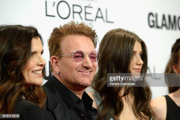 Alison Hewson honoree Bono and actress Eve Hewson attend Glamour Women Of The Year 2016 at NeueHouse Hollywood on November 14 2016 in Los Angeles...