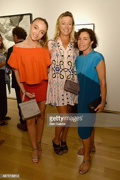 Alison Hirsch Holly Anderson and Fulvia Farolfi attend the Patrick Demarchelier special exhibition preview to celebrate NYFW The Shows for Spring...