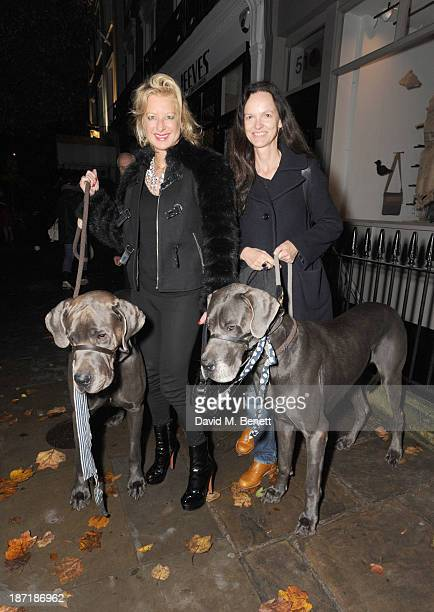Alison Jackson and Bettina von Hase attend Luxury dog cat outfitters Mungo Maud invite fourlegged guests with VIP owners to launch their...