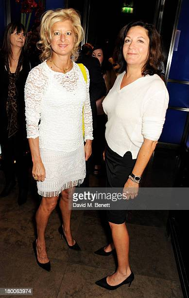 Alison Jackson and Cameron Mandabach attend the launch of 'Dim Sum Sundays' by Hakkasan at Hakkasan Hanway Place on September 8 2013 in London England