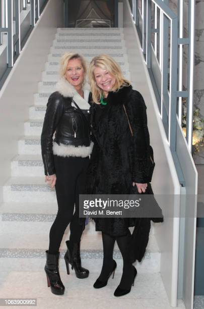 Alison Jackson and Giulia Costantini attend the launch of new restaurant Brasserie Of Light at Selfridges on November 20 2018 in London England