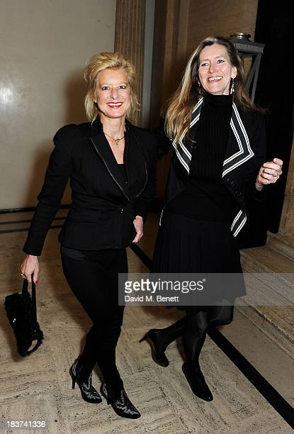Alison Jackson and guest attend an after party following the European Premiere of 'Captain Phillips' the Opening Night film of the 57th BFI London...