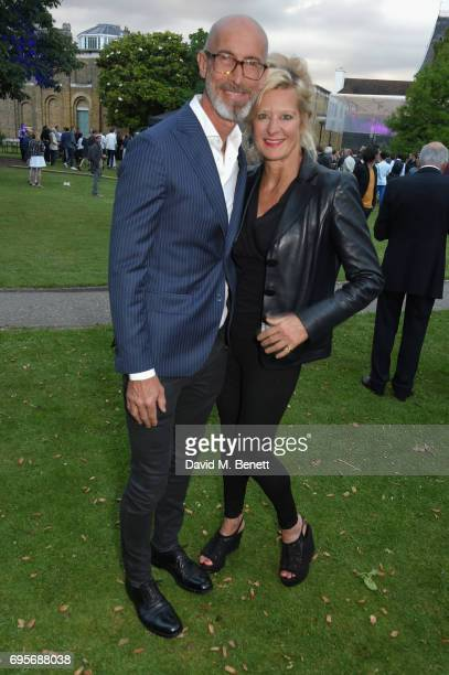 Alison Jackson and guest attend the Dulwich Picture Gallery Summer Party at Dulwich Picture Gallery on June 13 2017 in London England