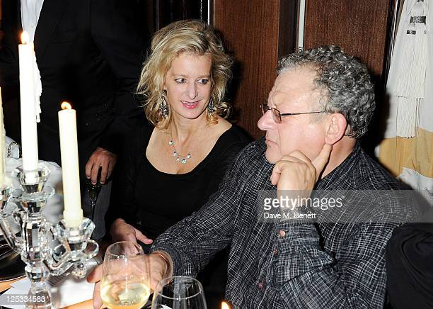 Alison Jackson and Jeremy Thomas attend a private dinner hosted by Wolfgang Puck his wife Gelila Puck and Charles Finch to celebrate the launch of...