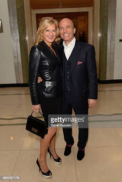 Alison Jackson and Richard Steeve Giraud attend as Laurence Patrick Seguin host an intimate dinner in celebration of the opening of their London...