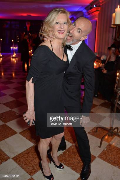 Alison Jackson and Stefano Pasianot attend a party to celebrate Nefer Suvio's birthday hosted by The Count and Countess Francesco Chiara Dona Dalle...