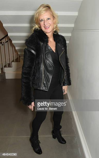 Alison Jackson attends a private view of ''Le Tarbouche' by artist Mouna Rebeiz at the Saatchi Gallery on February 26 2015 in London England