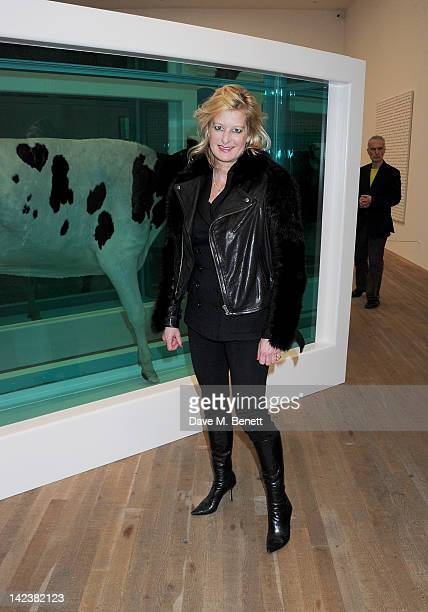 Alison Jackson attends a private view of the Damien Hirst retrospective exhibition at the Tate Modern on April 3 2012 in London England