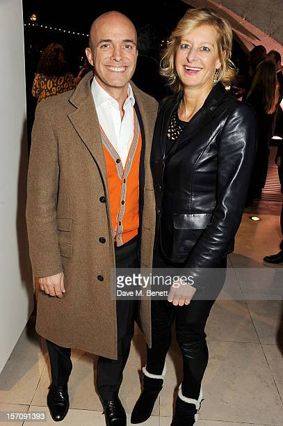 Alison Jackson attends a private view of 'Valentino Master Of Couture' exhibiting from November 29th 2012 March 3 at Somerset House on November 28...
