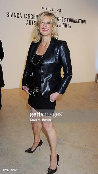 Alison Jackson attends 'Arts For Human Rights' the inaugural Bianca Jagger Human Rights Foundation Gala supported by Swarovski at Phillips de Pury...