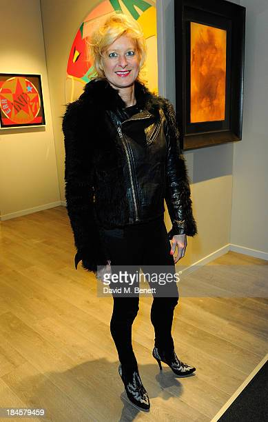 Alison Jackson attends the Moet Hennessy London Prize Jury Visit during the PAD London Art Design Fair at Berkeley Square Gardens on October 14 2013...