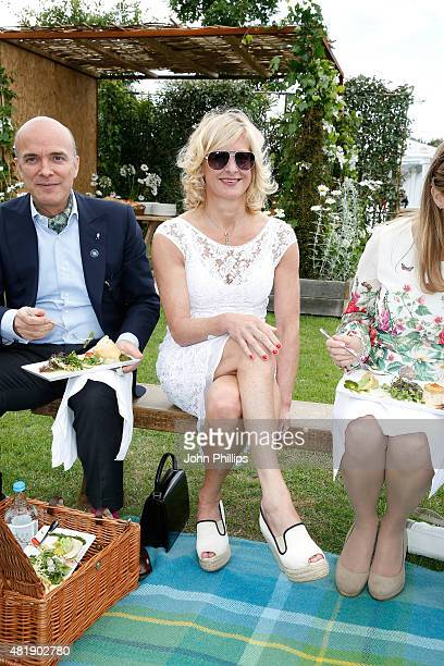 Alison Jackson attends The Royal Salute Coronation Cup at Guards Polo Club in Windsor Great Park on July 25 2015 in Egham England