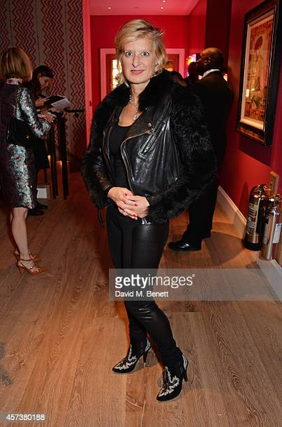 Alison Jackson attends the VIP Gala Screening of Marc Quinn Making Waves at the Ham Yard Hotel on October 17 2014 in London England