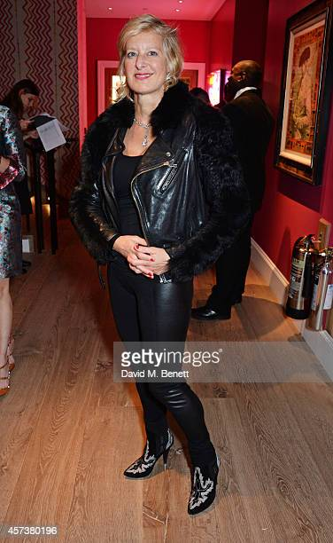 Alison Jackson attends the VIP Gala Screening of 'Marc Quinn Making Waves' at the Ham Yard Hotel on October 17 2014 in London England
