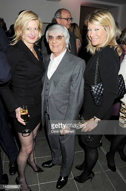 Alison Jackson Bernie Ecclestone and Giulia Costantini attend a party celebrating the launch of Sweet Revenge The Intimate Life of Simon Cowelll by...