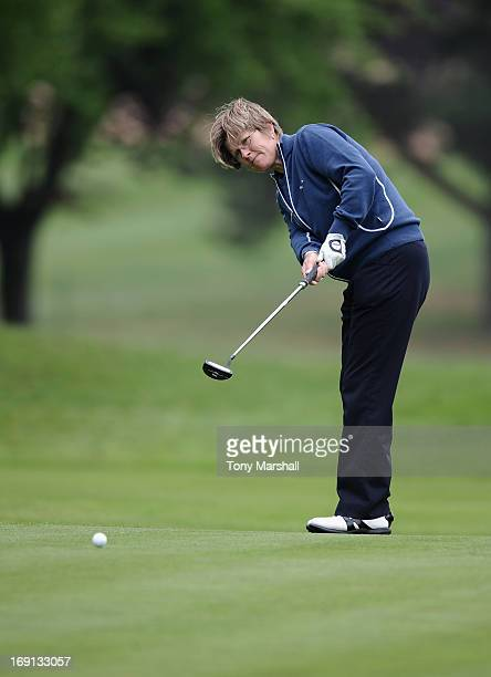 Alison Johns of Woodhall Spa Golf Club during the Glenmuir Women's PGA Professional Championship Regional Qualifier at Little Aston Golf Club on May...