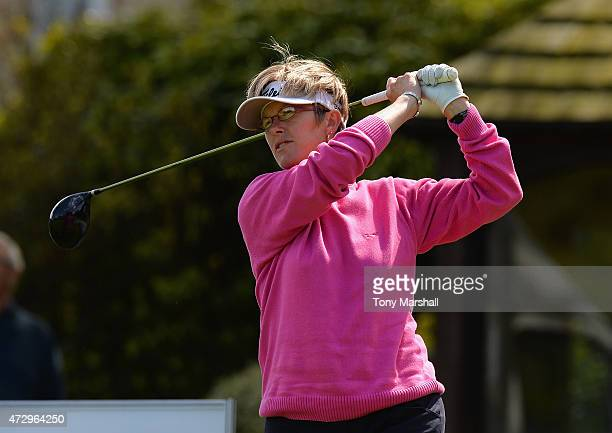 Alison Johns of Woodhall Spa Golf Club plays her first shot on the 1st tee during the Titleist and FootJoy Women's PGA Professional Championship...