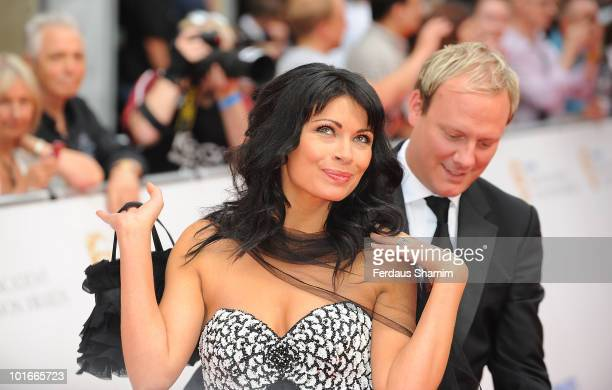 Alison King and Antony Cotton attend the Philips British Academy Television awards at London Palladium on June 6 2010 in London England