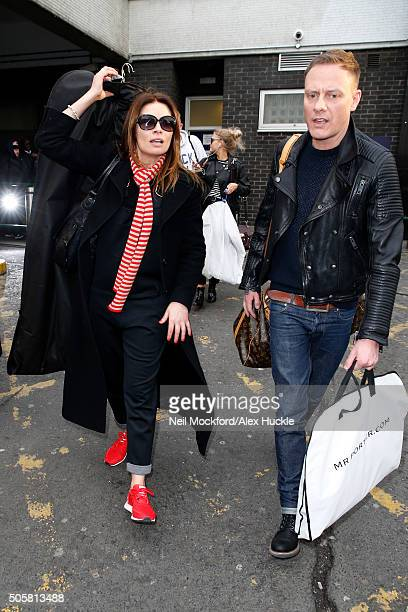 Alison King and Antony Cotton seen arriving at Euston Station ahead of the National Television Awards on January 20 2016 in London England