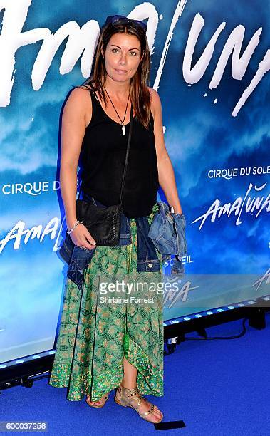 Alison King arrives at the press night for Cirque Du Soleil's 'Amaluna' at The Big Top Intu Trafford Centre on September 7 2016 in Manchester England