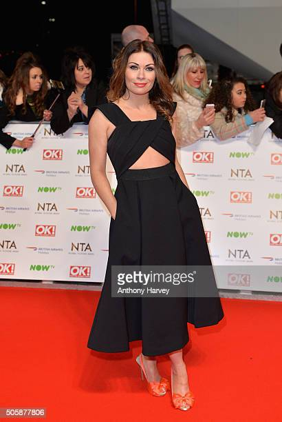 Alison King attends the 21st National Television Awards at The O2 Arena on January 20 2016 in London England
