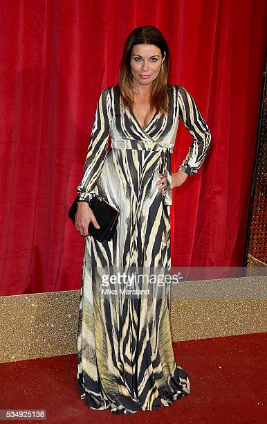 Alison King attends the British Soap Awards 2016 at Hackney Empire on May 28 2016 in London England